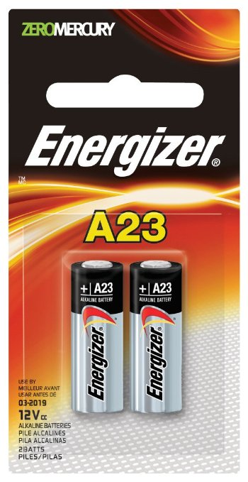 Energizer A23 cell, 2 pk