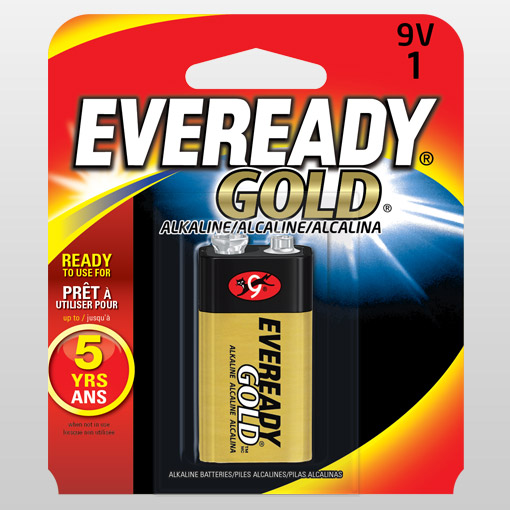 Eveready 9 Volt Battery, Single
