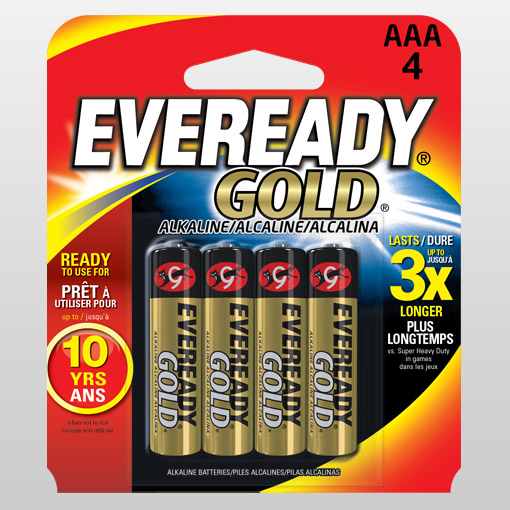Eveready AAA battery, 4 pack