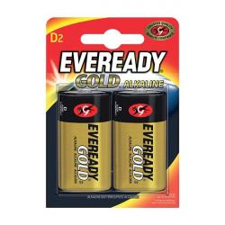 Eveready D battery, 2 pack