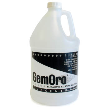 GemOro Ultrasonic Jewelry Cleaner Solution - Concentrate Gallon-0