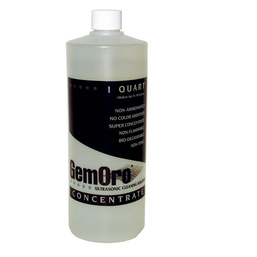 GemOro Ultrasonic Jewelry Cleaner Solution - Concentrate Quart-0