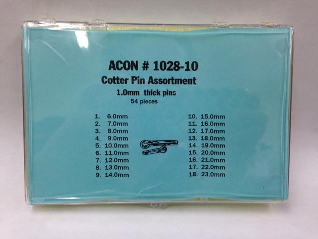 Cotter Pin Assortment #1028-10 -54 pieces-0