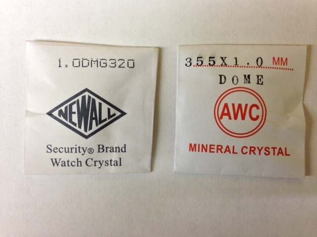 Domed Mineral Glass, 1mm thick-0