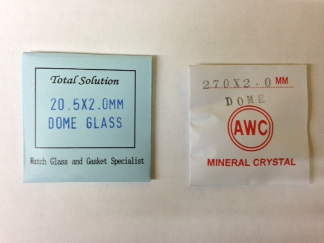 Domed Mineral Glass, 2mm thick-0