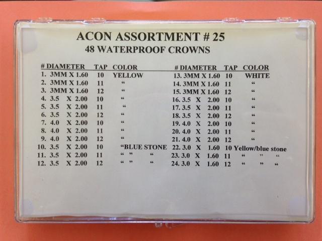 Acon Waterproof Crown Assortment #25-0