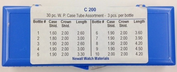 Newall Waterproof Case Tube Assortment, 30 pieces, 2.0mm