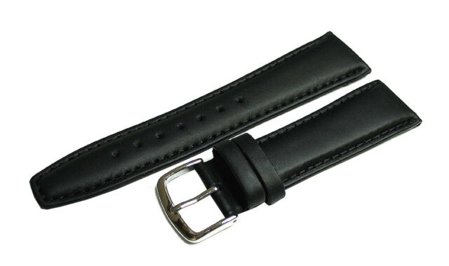 Hadley Roma 16mm Leather Band Black Classic Calf Long