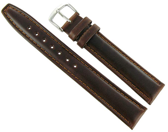 Hadley Roma 18mm Leather Band Brown Classic Calf Extra Long