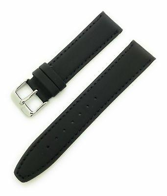 Hadley Roma 22mm Leather Band Black Classic Calf