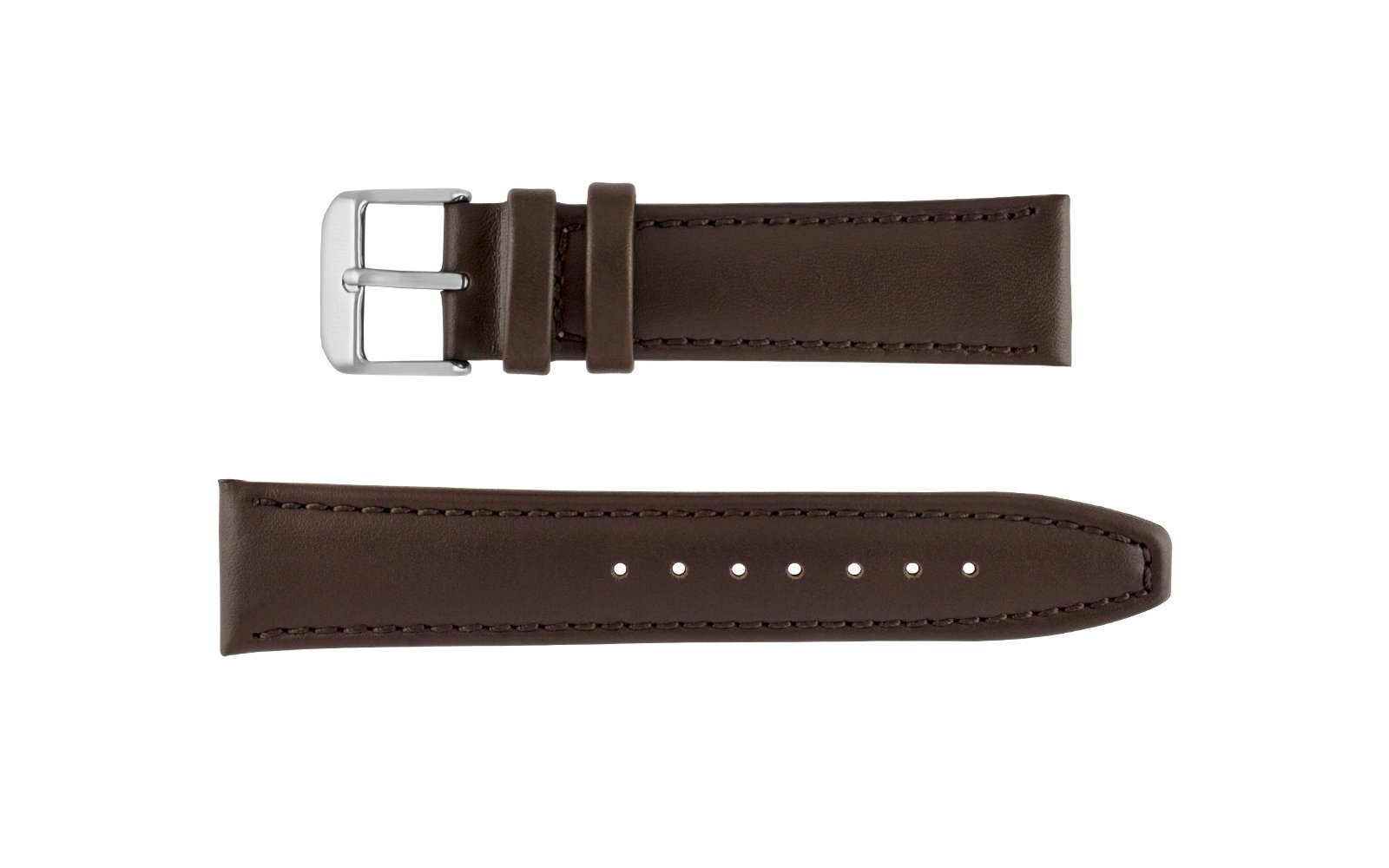 Hadley Roma 22mm Leather Band Brown Classic Calf-4766