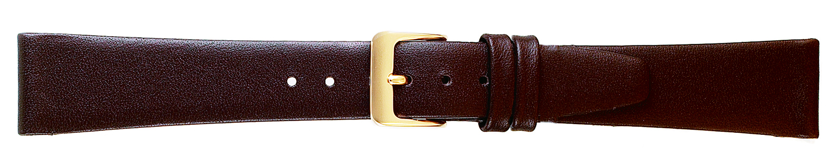 19MM Leather Band Brown Smooth Calf-0