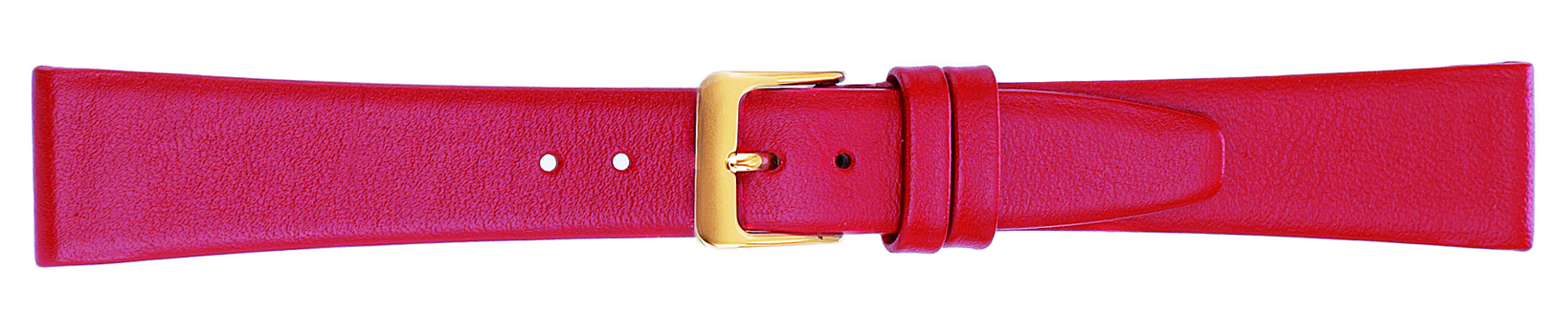 18MM Leather Band Red Smooth Calf-0