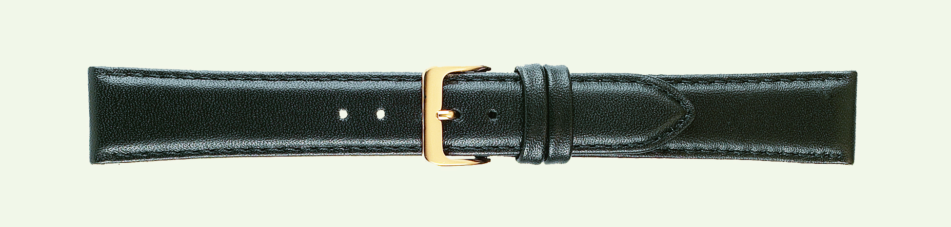 Haldey Roma 24mm Leather Band Black Classic Calf-0