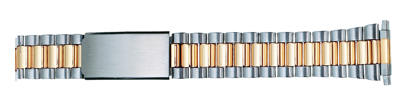 Watch Band Two Tone Classic Style w/ends to fit 16-21mm-0