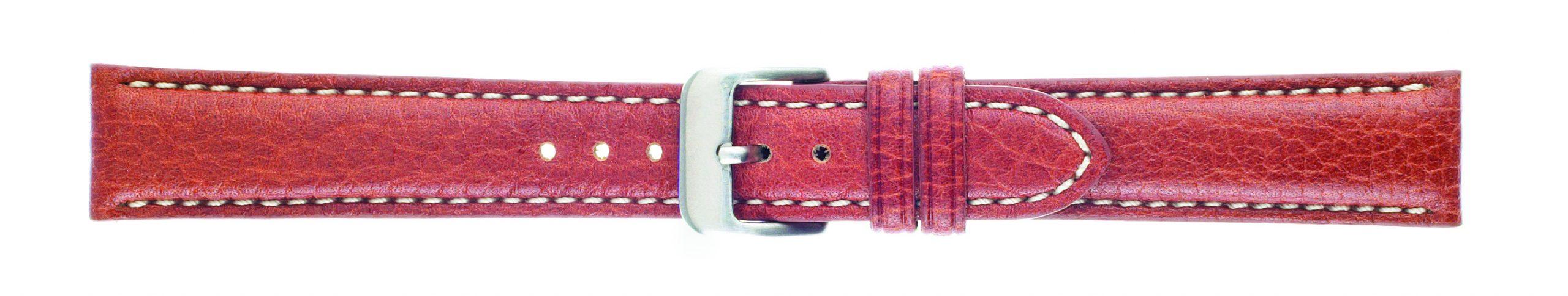 18mm Buffalo Chrono Honey Brown Leather Strap-0