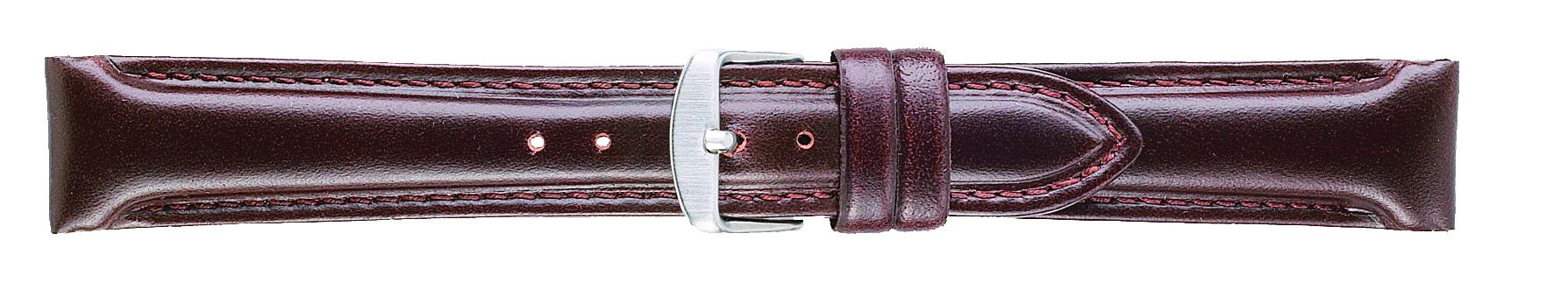 18mm Oilskin Chrono Brown Leather Strap-0