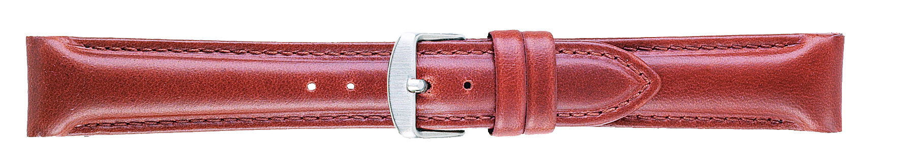 20mm Oilskin Chrono Red Brown Leather Strap-0