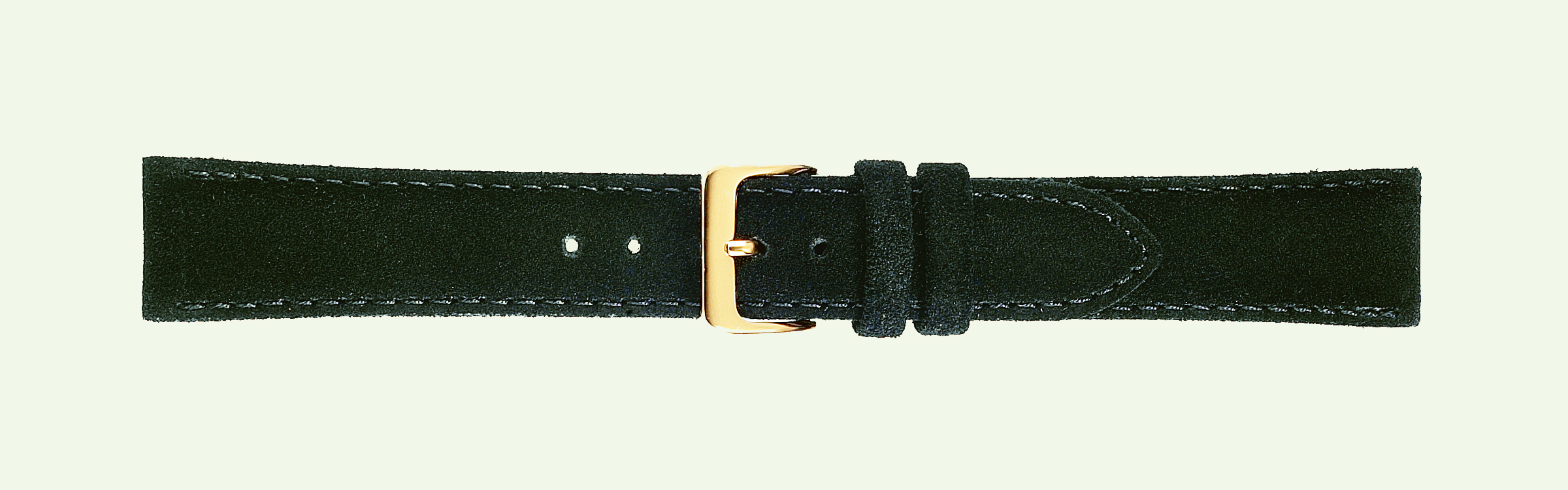 16MM Leather Band Black Suede-0