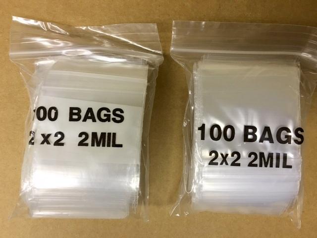2x2 w/Patch Poly Zip Lock Bag 100 piece/bag-0