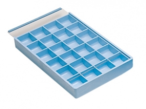 24 Compartment Plastic Tray w/Lid
