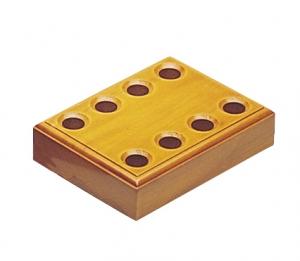 Wooden Plier Block - 8 Hole-0