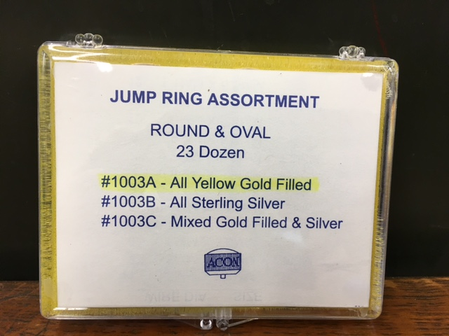 Jump Ring Assortment Round & Oval - All Yellow Gold Filled-0