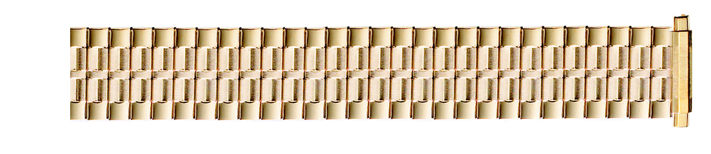 Gold Plated Metal Expansion Band, 16-22MM ends-0
