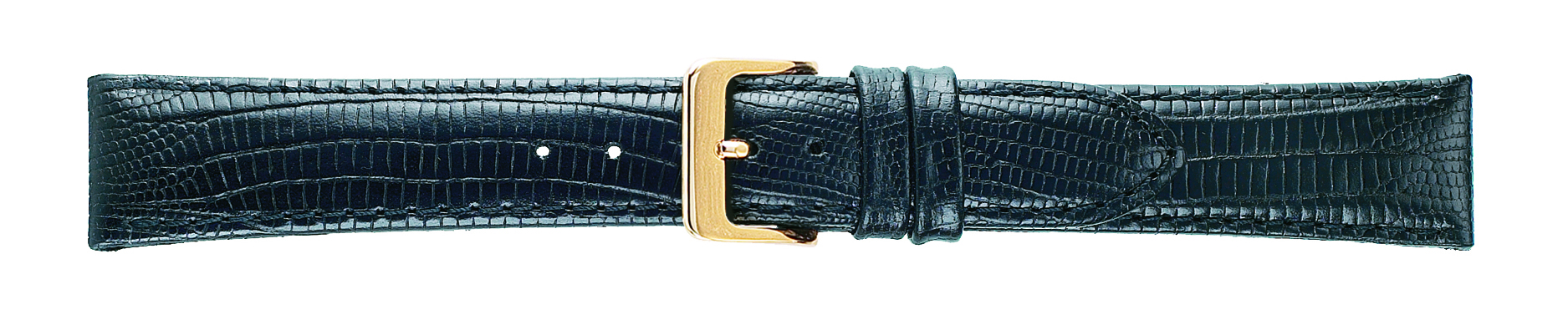 20mm Teju Lizard Grain Black Leather Strap-0