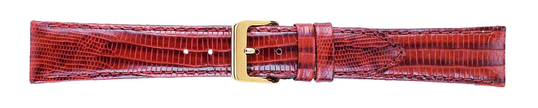 18mm Teju Lizard Grain Honey Brown Leather Strap