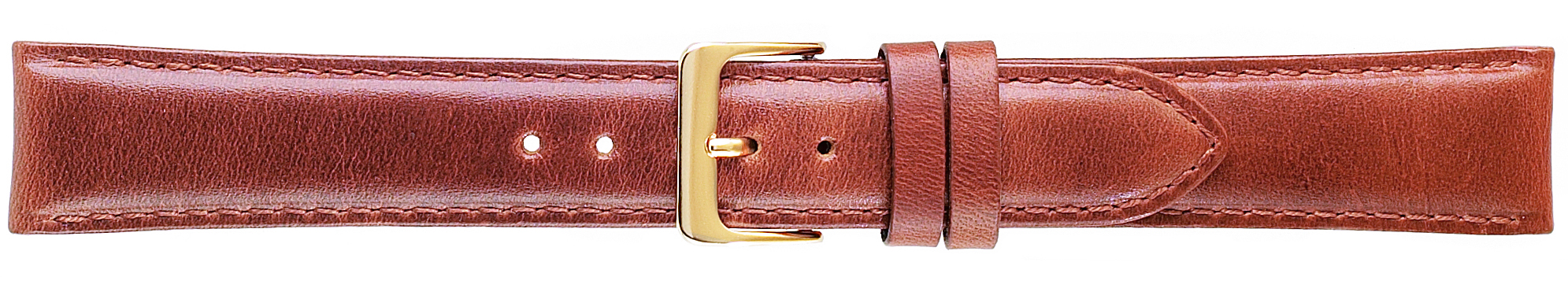 18MM Classic Oilskin Honey Brown Leather Strap-0