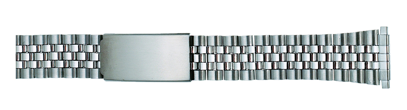 Stainless Steel Classic Jubilee Watch Band, 18-22 ends-0