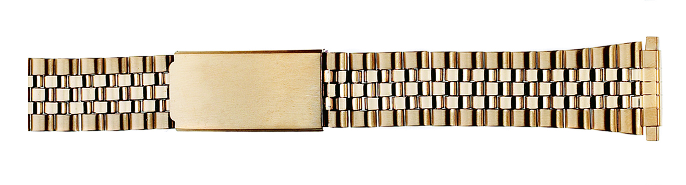 Gold Plated Classic Jubilee Watch Band, 18-22 ends-0