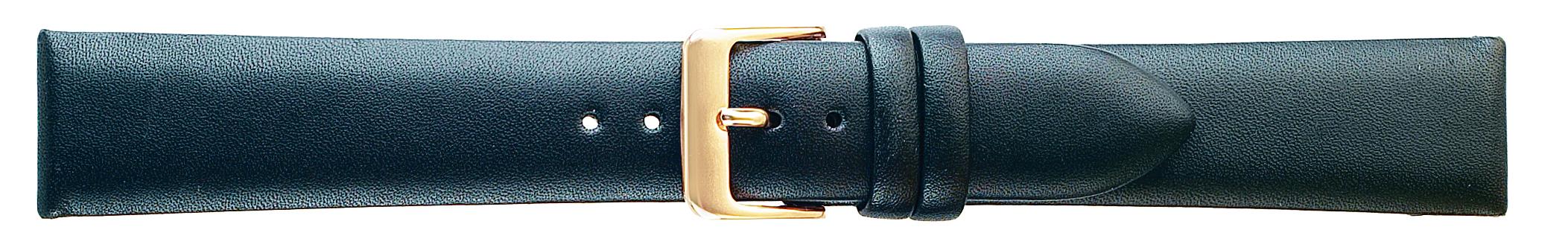 17MM Black Luxury Calf Leather Strap-0