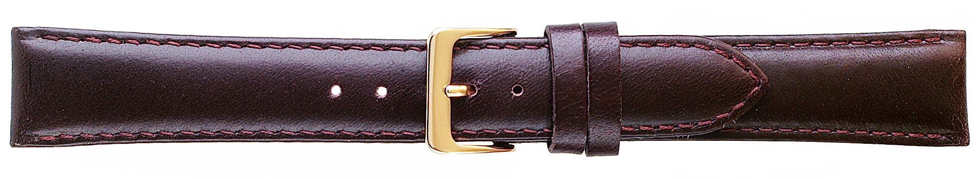 18MM Classic Oilskin Brown Leather Strap -0