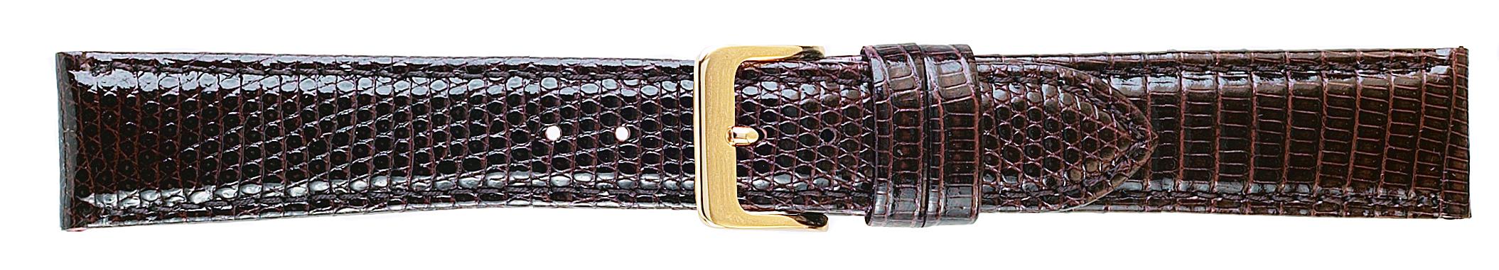 20MM Genuine Lizard Brown Leather Strap -0