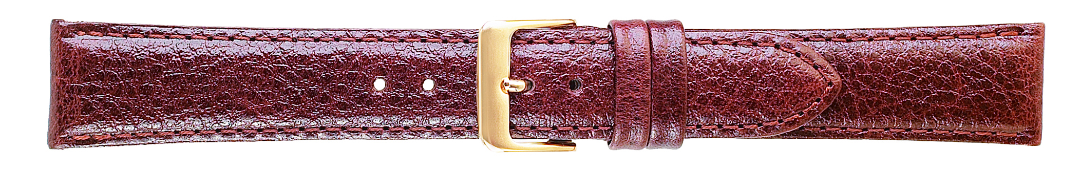 18MM Polished Calf Brown Leather Strap-0
