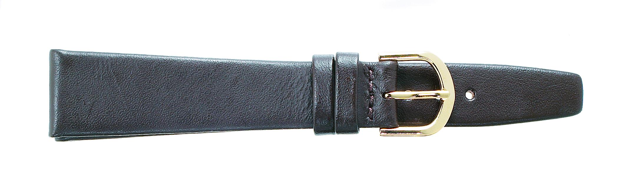 18mm Flat Calf Brown Strap-0