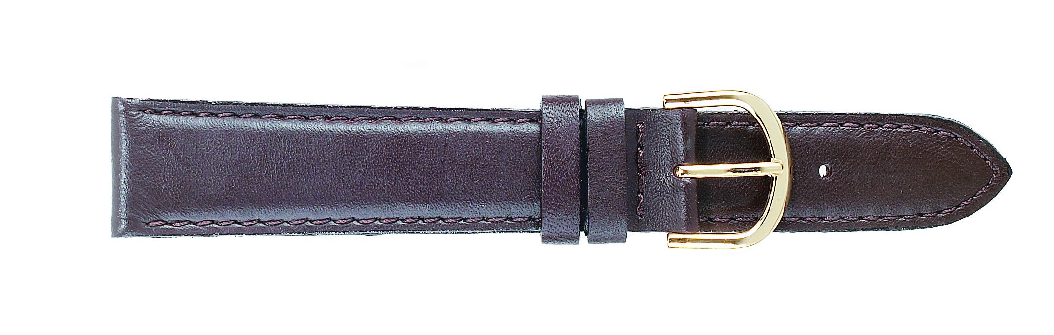 16mm Padded Calf Brown Strap-0