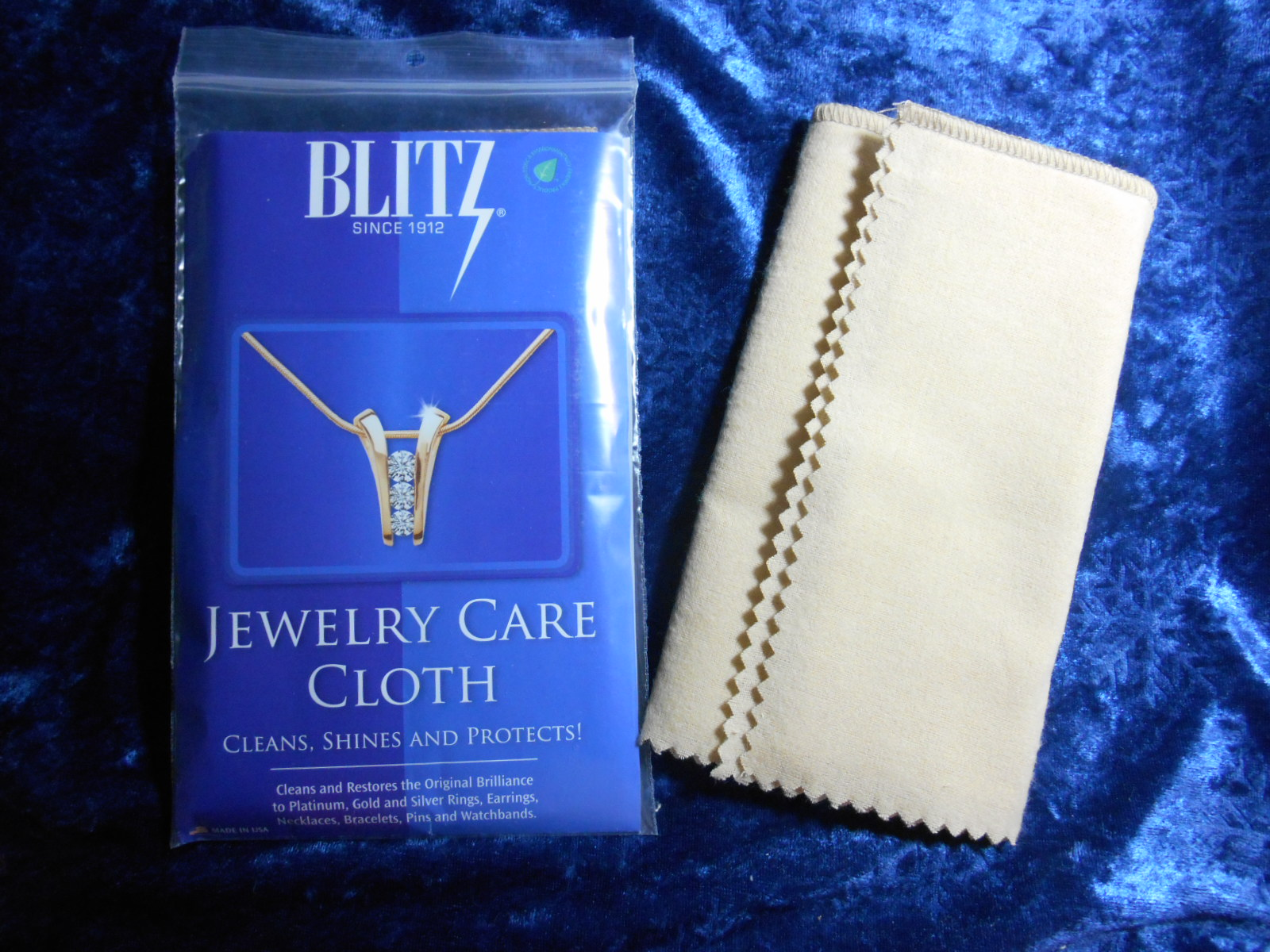 Blitz Jewelry Care Cloth Jewelry Polishing and Cleaner-0