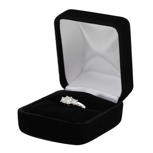 Velvet Ring Box - 1 Dozen-0