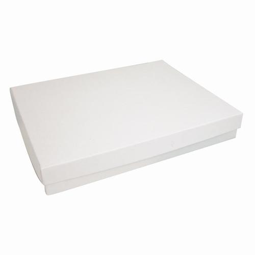 White Swirl Cotton Filled Jewelry Box - 7