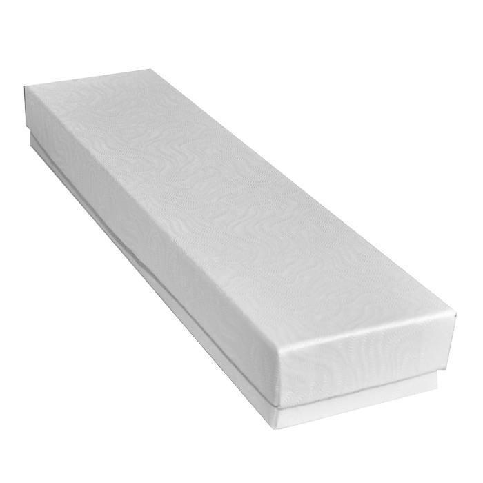 White Swirl Cotton Filled Jewelry Box - 8