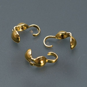 Bead Tips, Gold Plated - Double-0