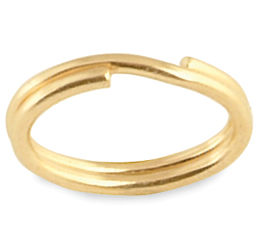 Split Rings Yellow Gold Filled Oval 6.5mm, 1 pack -Closeout!!-0