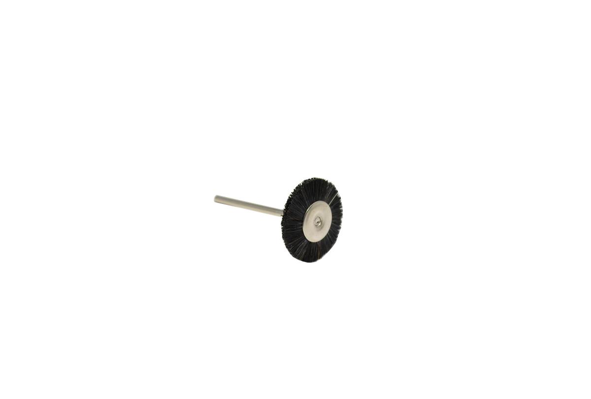 Stiff Bristle Wheel Brush, Double Section, 1