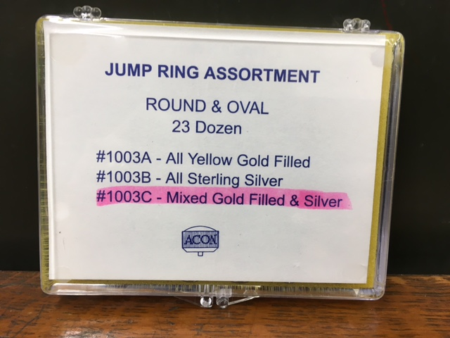 Jump Ring Assortment Round & Oval - Mixed Gold Filled & Silver-0