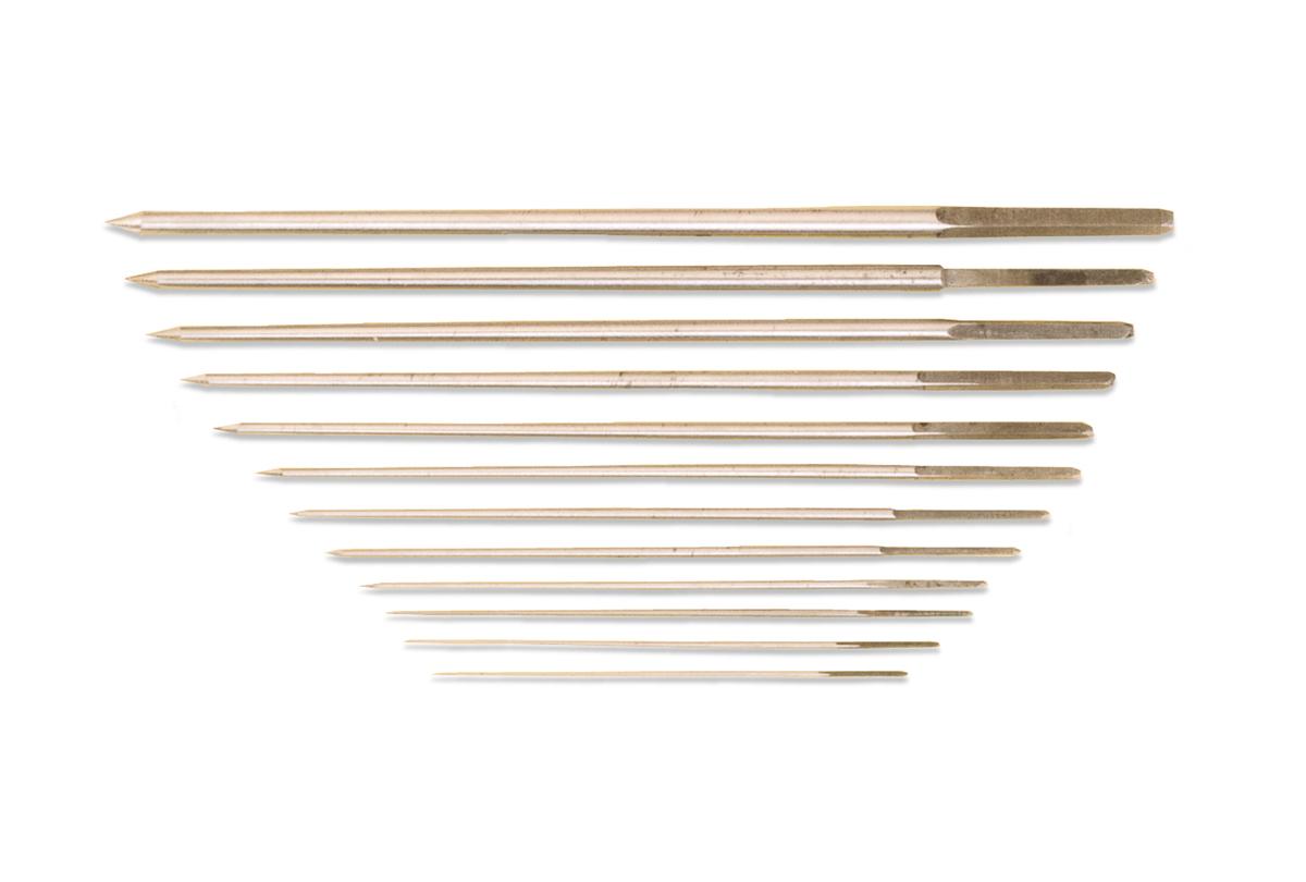 Broach Set of 12, Round, Sizes 30/70