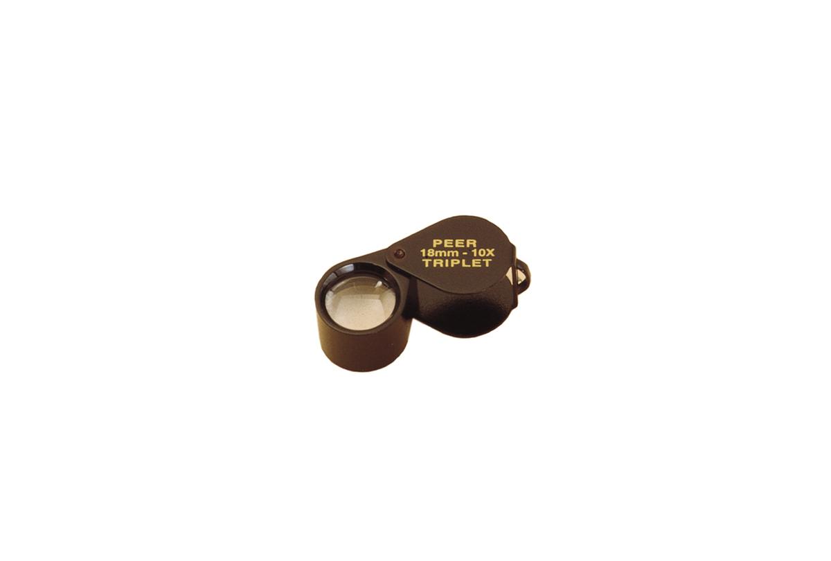 Peer® 10X Triplet Magnifier, Black Satin