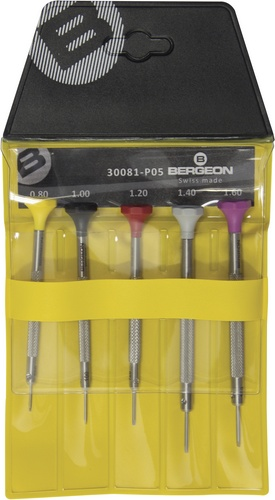Bergeon 30081-P05 Ergonomic Screwdriver Set